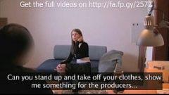 إعطاء مقابلة لتكون ممثلة في فيلم ووضجيجا متعهد