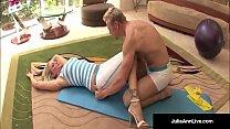 ممارسة الجنس مع مدرب اليوغا التي تقبل مقترحات اللعنة