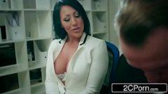 الجنس على مكتب مع امرأة جميلة جدا و بشي جدا و انها عاطفي عن اللعنة