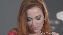 The red-haired girl wants perverse sex with her sports neighbor