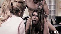 فتاة صغيرة تمارس الجنس مع عشيق أختها